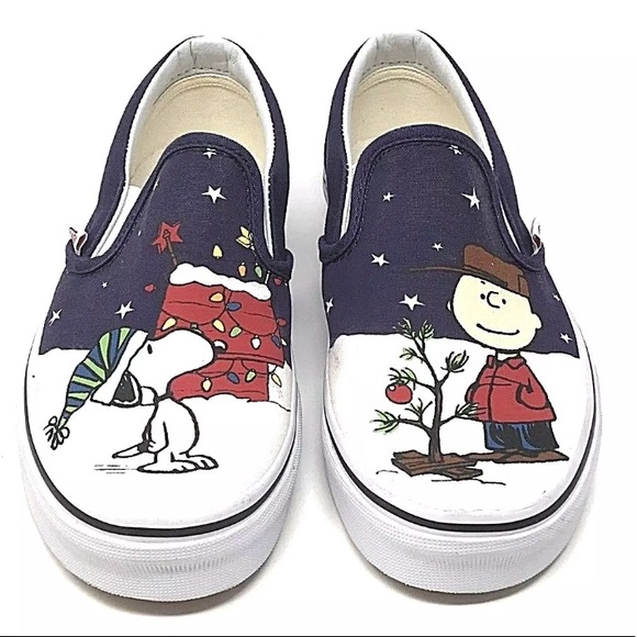 outlet boutique huge selection of best online Vans classic Peanuts Charlie Brown Christmas shoe NWT